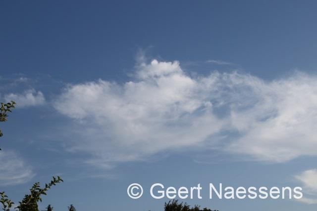 Vandaag wat meer wind en ook een paar wolken